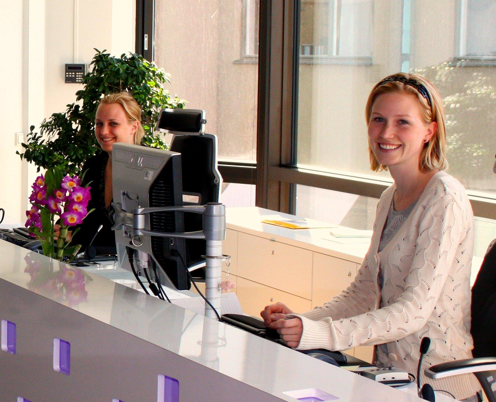 1. Receptionists
